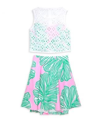 Lilly Pulitzer Girl's 2-Piece Gabriella Tank & Skirt Set