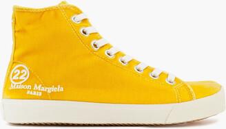 Maison Margiela Tabi Velvet High-top Sneakers