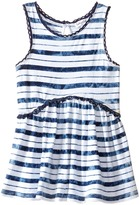 Splendid Littles Indigo Striped Tie-Dye Swing Top Girl's Clothing