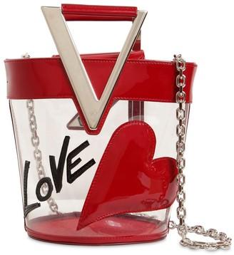 Roger Vivier LOVELY PVC & LEATHER BUCKET BAG