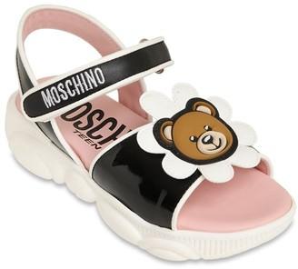 Moschino Leather Sandals W/ Daisy Bear