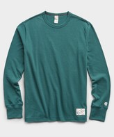 Todd Snyder + Champion Heavy Weight Long Sleeve Jock Tag Tee in Storm Green