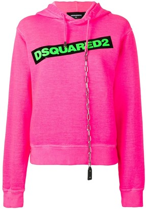 DSQUARED2 Contrast Logo Hoodie