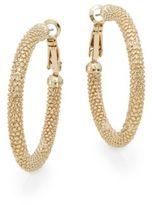 AK Anne Klein Anne Klein Textured Hoop Earrings/1.5