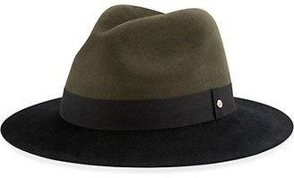 New Era Colorblock Wool Wide-Brim Fedora Hat