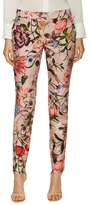 Gucci Cotton Floral Print Skinny Pant