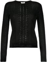 Fendi bow appliqué knit top - women - Silk/Cotton/Polyurethane - 40