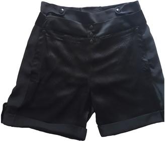 Balenciaga Black Silk Shorts for Women