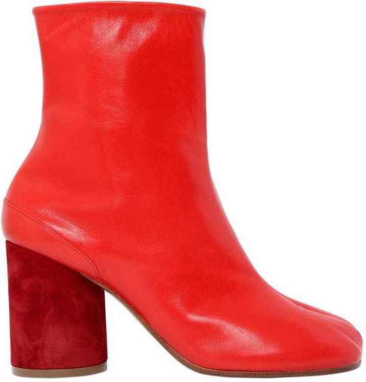 Maison Margiela 90mm Tabi Leather Ankle Boots