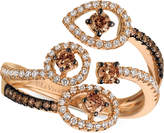 LeVian Le Vian Chocolatier Chocolatier Diamond Bypass Statement Ring (5/8 ct. t.w.) in 14k Rose Gold