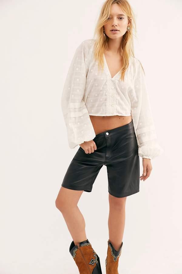 278975c47c Leather Biker Shorts - ShopStyle