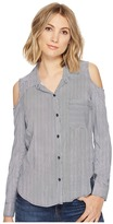 Splendid Boardwalk Stripe Mixed Stripe Shirt Women's Long Sleeve Button Up