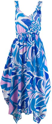 Emilio Pucci Samoa printed long dress