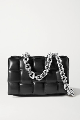 Bottega Veneta Cassette Chain-embellished Padded Intrecciato Leather Shoulder Bag - Black