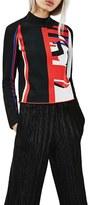 Topshop Women's 'Re-Gen' Funnel Neck Sweater