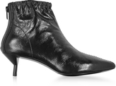 3.1 Phillip Lim Blitz Black Leather Kitten Heel Booties