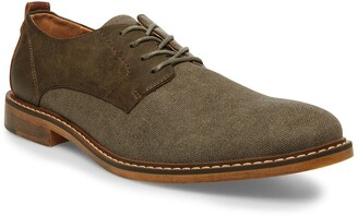 Steve Madden Yanton Mixed Panel Lace-Up Derby