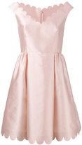 RED Valentino scalloped mini dress - women - Silk/Polyester/Acetate - 44