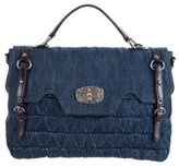 Miu Miu Denim Quilted Bag