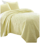 IENJOY HOME Becky Cameron Premium Ultra Soft Damask Pattern Quilted Coverlet Set,