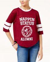 Freeze 24-7 Juniors' Sassy Varsity Stripe Graphic T-Shirt