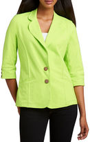 Neon Buddha Urban Knit Two-Button Blazer