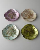 Horchow Four Floral Dessert/Canape Plates