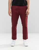 Weekday Wood Cropped Chinos Wine