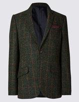 Pure Wool Tailored Fit Harris Tweed Jacket