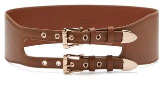 Gabriela Hearst Minerva Double-buckle Leather Belt - Tan