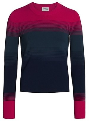 Tanya Taylor Ombre Long-Sleeve Sweater