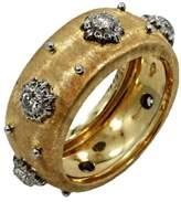 Buccellati 18K Yellow Gold & Diamond Macri Band Ring Size 6