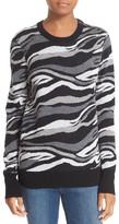 Equipment &Ondine& Print Zip Shoulder Wool Sweater