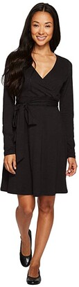 Toad&Co Cue Wrap Dress (Black) Women's Dress