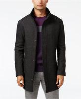 Alfani Men's Mock Collar Textured Top Coat, Only at Macy's