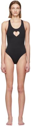 Vetements Black Heart One-Piece Swimsuit