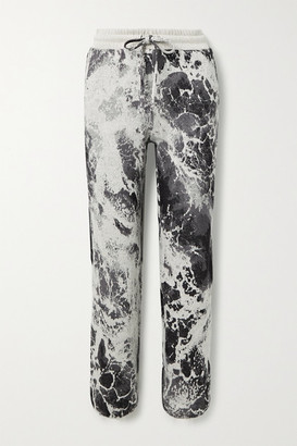 Twenty Montreal Seafoam Hyper Reality Intarsia Cotton-blend Track Pants - Gray