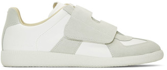 Maison Margiela White and Grey Replica Bowling Sneakers