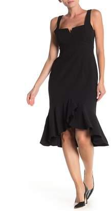Taylor Wired Crepe Flounce Sheath Dress (Regular & Plus Size)