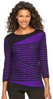 Dana Buchman Women's Striped Crewneck Sweater