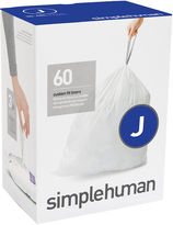 Simplehuman Custom Fit Trash Can Liners Code J - 60-Pack