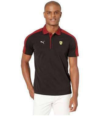 Puma Scuderia Ferrari Street Polo Black) Men's T Shirt