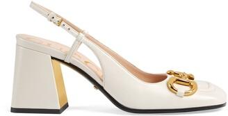 Gucci Women's mid-heel slingback with Horsebit