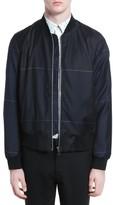 Paul Smith Men's Tartan Plaid Wool Bomber Jacket