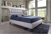 Asstd National Brand Baxton Studio Bellissimo Upholstered ButtonTufted Platform Bed