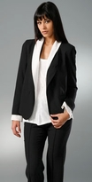 Boyfriend Blazer with Illusion Collar