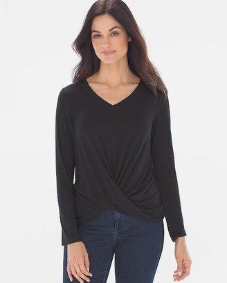 Soma Intimates Draped Twist Long Sleeve Top