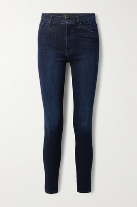 Mother The Super Swooner High-rise Skinny Jeans - Dark denim