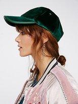 Free People Lady Luck Velvet Baseball Hat