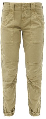 Frame Trapunto Zip-cuff Cotton-blend Cargo Trousers - Khaki